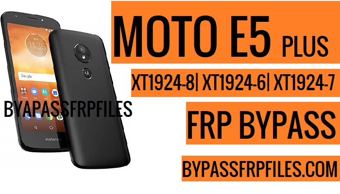 Bypass Google Account Moto E5 Plus