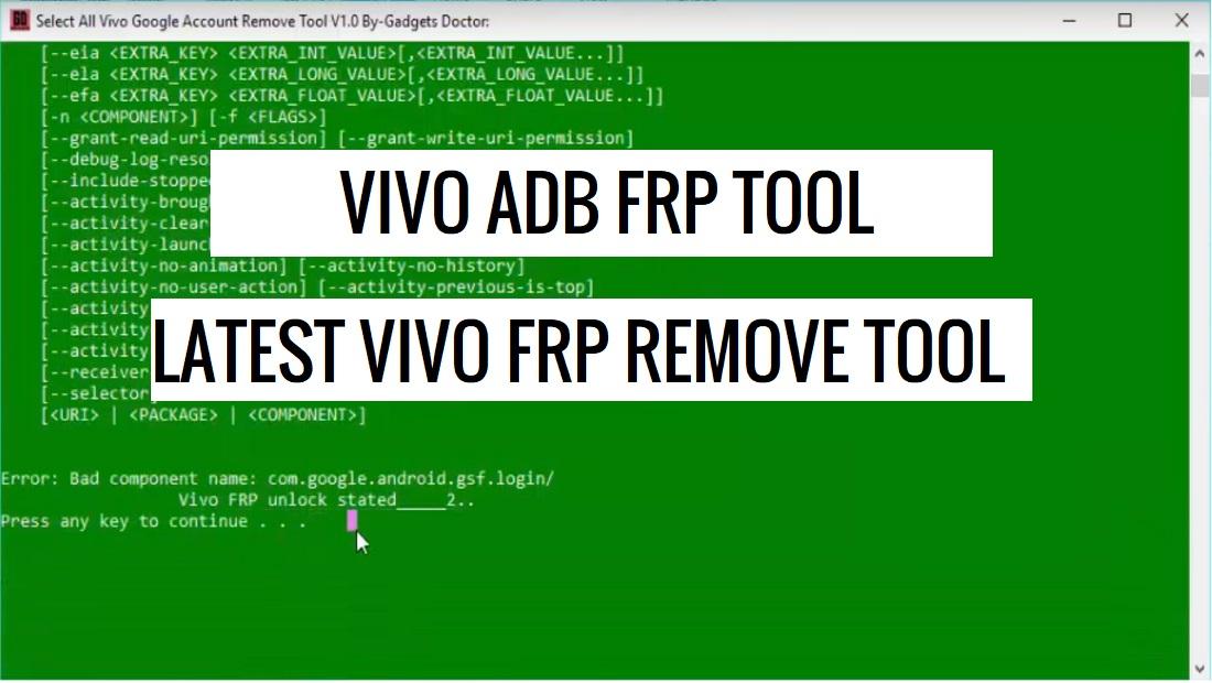 Vivo FRP Unlock Tool latest Vivo FRP Reset Tool Download for Free